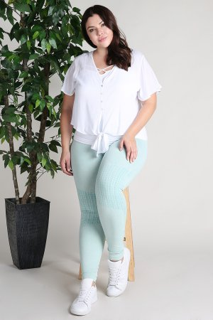 5a1810d773 NB6547XL Plus Size Vintage Knee Accents Leggings ...