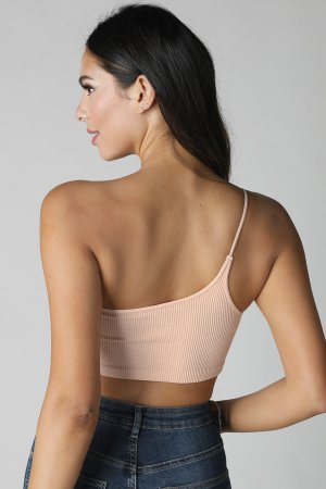 d5f2a28fbf3 NS7678 One Shoulder Ribbed Bralette NS7678 One Shoulder Ribbed Bralette