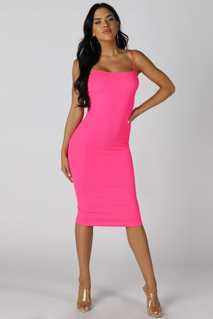 NS7572 Ribbed Midi Dress